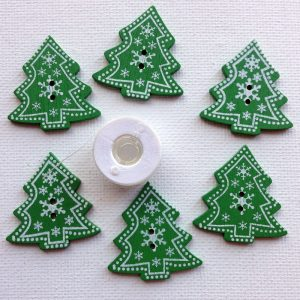 1130-christmas-tree-buttons-green-white-etching