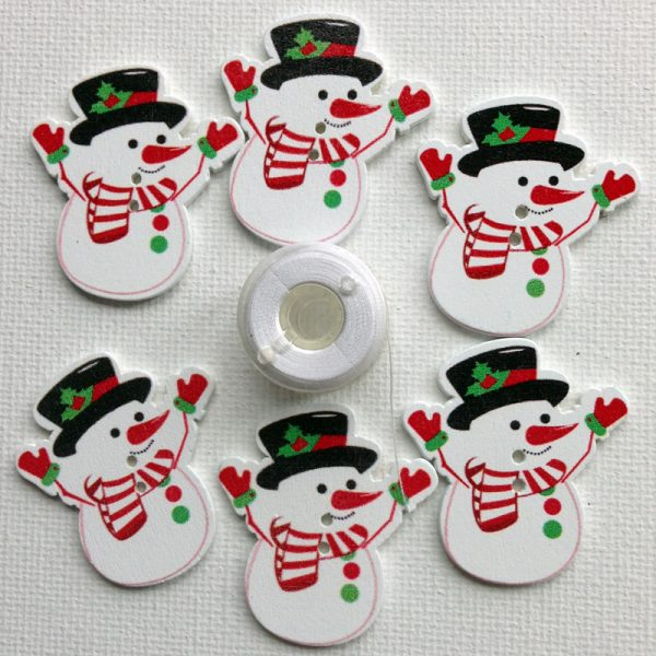1134-cheerful-snowman-buttons