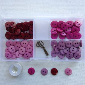 Shades of Plums Resin Buttons