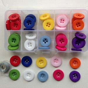 K105-Round Resin Bevelled Buttons