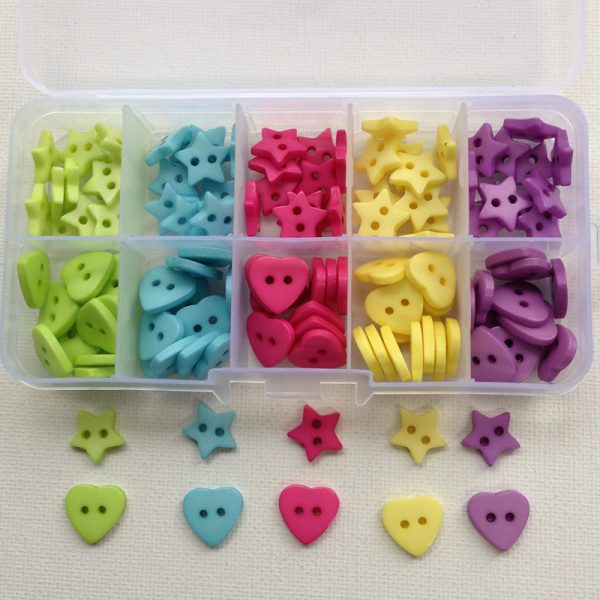K109-hearts-stars-resin-buttons