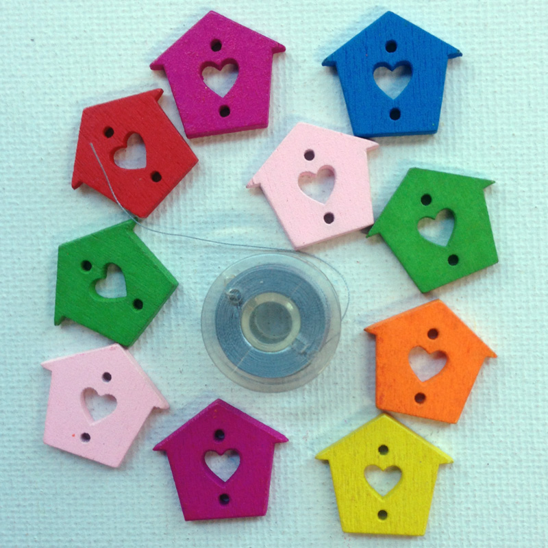 Heart Cut Out Bird House Buttons Buttons And Notions