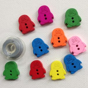 1174-wooden-penguin-buttons-solid-colours